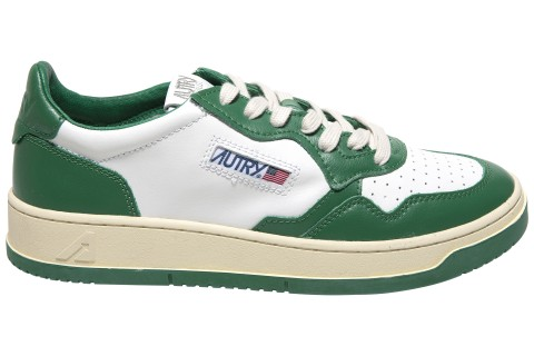 AUTRY MEDALIST GREEN/WHITE LEATHER