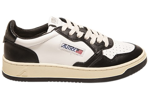 AUTRY MEDALIST BLACK/WHITE LEATHER